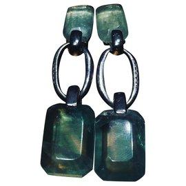 Chanel-Boucles d'oreilles-Vert