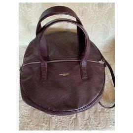 Balenciaga-Air Hobo Medium-Dark brown