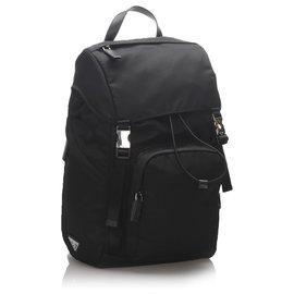Prada-Prada Black Nylon Backpack-Black
