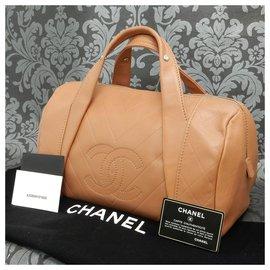 Chanel-Chanel Mini Boston-Marron