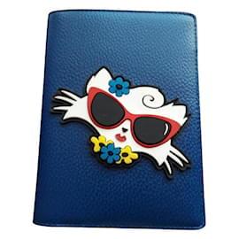 Karl Lagerfeld-CHOUPETTE Lagerfeld Wallet-Blue