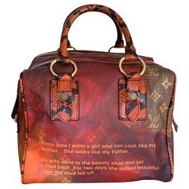 Louis Vuitton-Speedy Man Jokes Limited Edition-Cognac