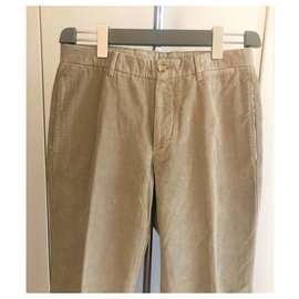 Burberry-Burberry new men's velvet chinos-Beige