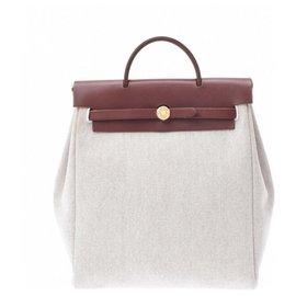 Hermès-Hermes herbag-White