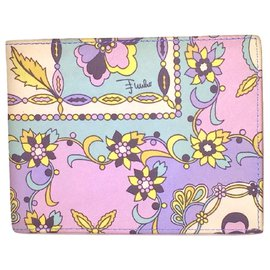 Emilio Pucci-EMILIO PUCCI printed leather wallet-Multiple colors