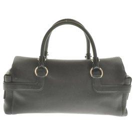 Salvatore Ferragamo-Salvatore Ferragamo Gancini Handbag-Black