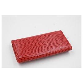 Louis Vuitton-Louis Vuitton multi keys  in red épi leather.-Red
