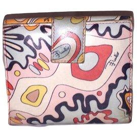 Emilio Pucci-EMILIO PUCCI printed leather wallet-Multiple colors