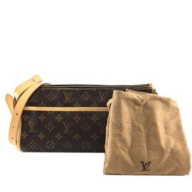Louis Vuitton-Louis Vuitton Popincourt Long Monogram Canvas-Brown