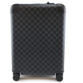 Louis Vuitton-Louis Vuitton Horizon Luggage 50 Damier Graphite Canvas-Black