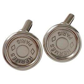 Hermès-Cufflinks-Silvery