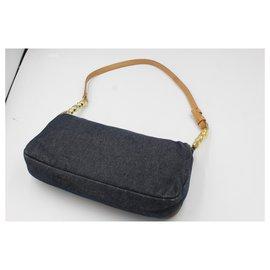 Dior-Dior handbag in denim-Bleu
