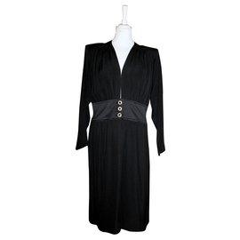 Yves Saint Laurent-Yves Saint Laurent Rive Gauche Gorgeous Cocktail Dress-Black