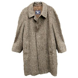Burberry-Burberry men's vintage coat in Irish Tweed t 54-Brown