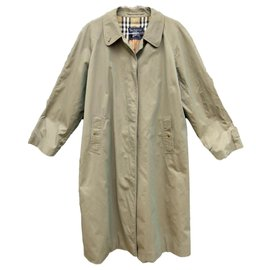 Burberry-Burberry woman raincoat vintage t 46 pure cotton-Khaki