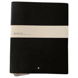 Montblanc-Carnet de croquis en cuir noir #149-Noir