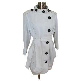 Yves Saint Laurent-Trench coats-White