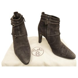 Hermès-Hermès p boots 39,5-Grey