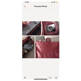 Chanel-Totes-Dark red