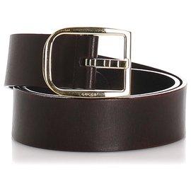 Gucci-Gucci Black Leather Belt-Black,Silvery