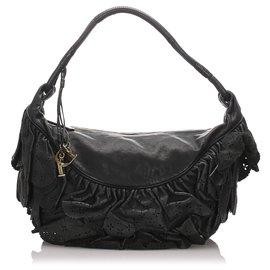 Dior-Sac Hobo Gypsy en Cuir Noir Dior-Noir