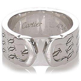 Cartier-Bague Cartier Argent C de Cartier-Argenté