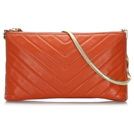 Yves Saint Laurent-YSL Red Quilted Leather Baguette-Red