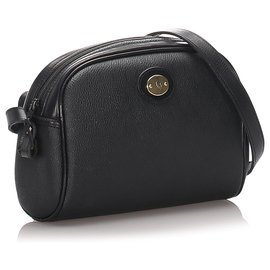 Dior-Sac bandoulière en cuir nid d'abeille noir Dior-Noir