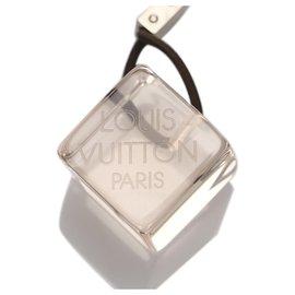 Louis Vuitton-Louis Vuitton White Logo Hair Cubes-Black,White