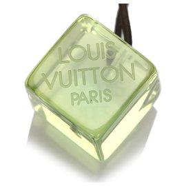 Louis Vuitton-Louis Vuitton Green Logo Hair Cubes-Black,Green