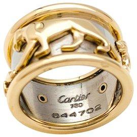"""Cartier-Bague bandeau Cartier """"Panthère"""", deux ors.-Autre"""