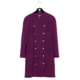 Chanel-PURPLE COAT OR DRESS FR40-Purple