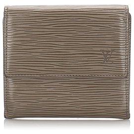 Louis Vuitton-Louis Vuitton Brown Epi Porte Monnaie Billets Tresor Wallet-Brown