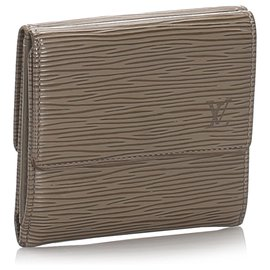 Louis Vuitton-Louis Vuitton Brown Epi Porte Monnaie Billets Tresor Wallet-Marron