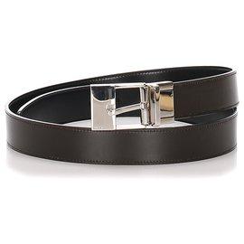 Gucci-Gucci Black Leather Belt-Black