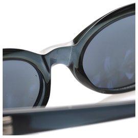 Gucci-Gucci Blue Tinted Round Sunglasses-Blue