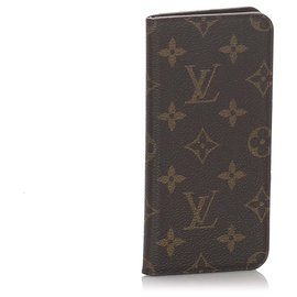 Louis Vuitton-Louis Vuitton Brown Monogram iPhone Folio-Brown