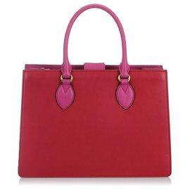 Gucci-Cartable en cuir bicolore rouge Gucci Linea A-Rose,Rouge