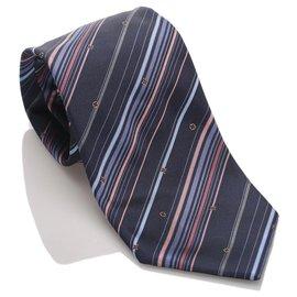 Louis Vuitton-Cravate en soie à rayures bleues Louis Vuitton-Bleu,Multicolore