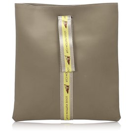 Louis Vuitton-Louis Vuitton Brown Louis Vuitton Cup Pouch-Brown,Light brown