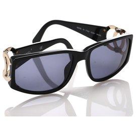 Chanel-Chanel Black Tinted CC Sunglasses-Black,Multiple colors