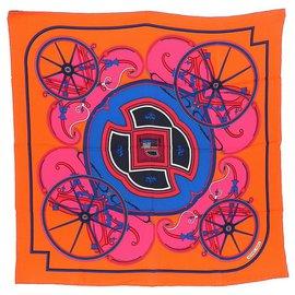 Hermès-carré 70 hermes-Orange