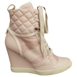 Chloé-Chloé p sneaker 38 in calf leather and python p 38-Pink