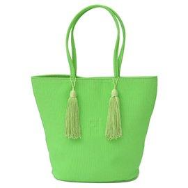 Fendi-Fendi Nylon tote bag-Green