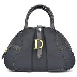 Dior-Mini sacoche de bowling en nylon Dior-Noir
