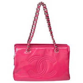 Chanel-Chanel Chanel  CC Patent Leather-Pink