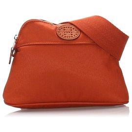Hermès-Hermes Brown Bolide San Tulle Golf Belt Bag-Brown