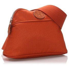 Hermès-Sac ceinture de golf Hermes Brown Bolide San Tulle-Marron
