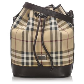 Burberry-Burberry Blue House Check Bucket Bag-Blue,Multiple colors,Navy blue