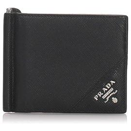 Prada-Prada Black Saffiano Leather Card Case-Black